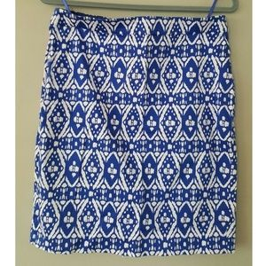 J. Crew The Pencil Skirt 8 Tribal Print Work